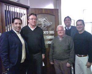 David Novloski, Felix Barboni, Alceu Stival, Igor Ludkevitch e Paulo Castro