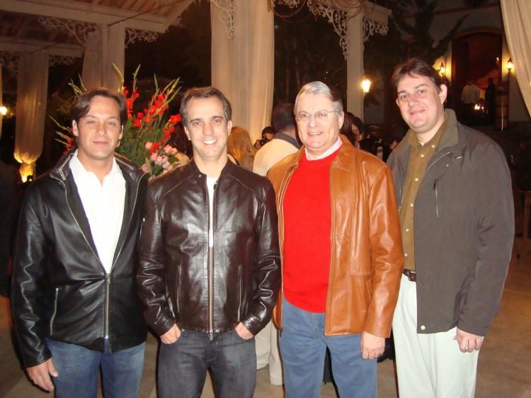 Acacio Queiroz, Alexandre Renault, Gustavo Pocai e Rodrigo Ferraz (Produtor do Evento)