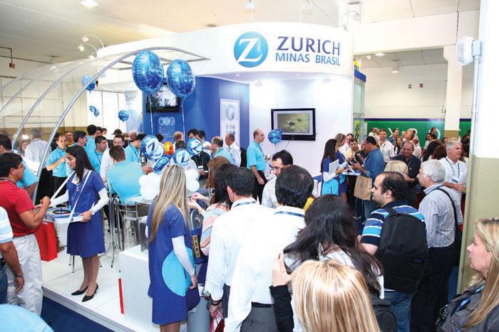 O estande da Zurich teve grande movimento em todos os três dias do evento